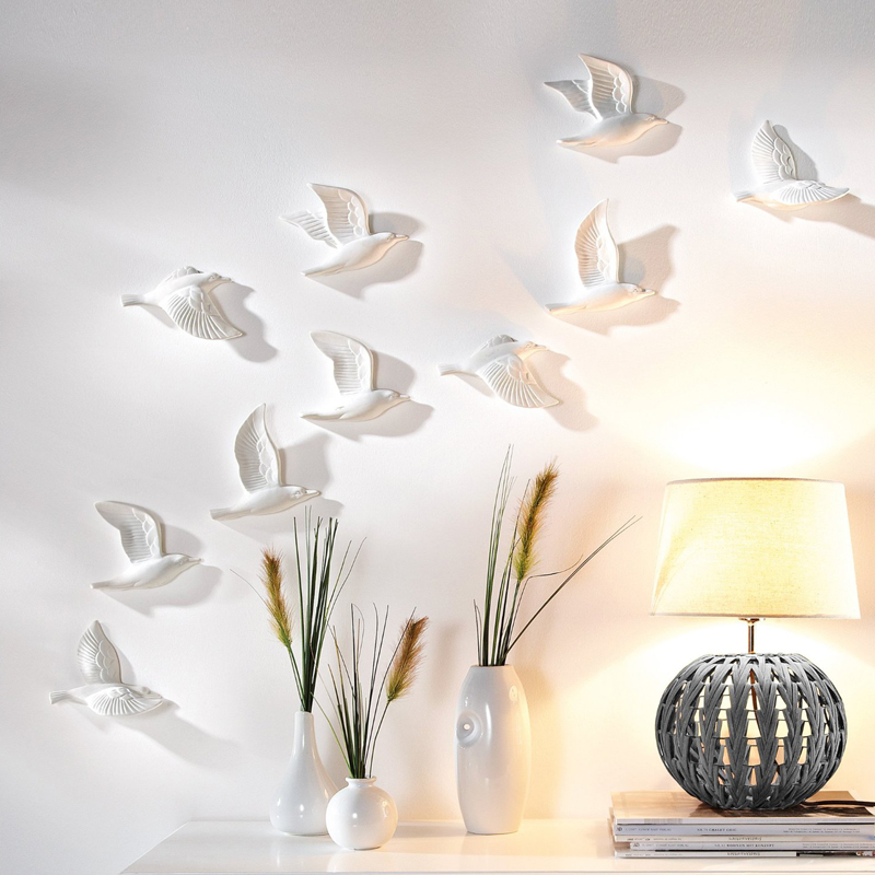Resin  3D Flying Birds Wall Decor